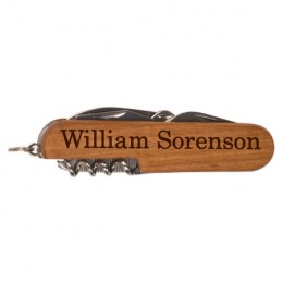 Wooden Engraved Multi-Tool 7-in-1 Pocket Knife