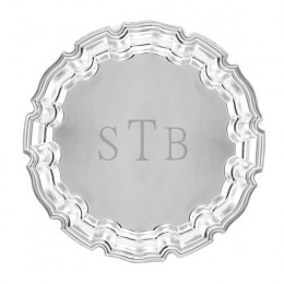 Engraved 8 Inch Chippendale Serving Tray