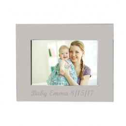 Silver Radiance Personalized Photo Frame - 3 x 5