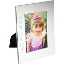 Personalized Photo Frame Silver Radiance-3 x 5