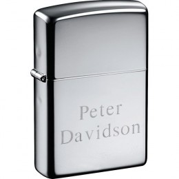 Engraved Zippo Lighter in Windproof Chrome