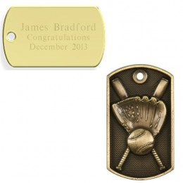 Personalized Baseball Dog Tag-Sports Gifts