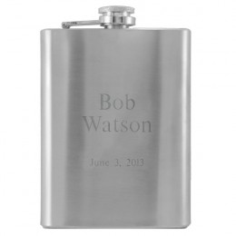 Engraved Message Stainless Steel Flask