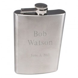 Personalized 8 oz Stainless Steel Flask