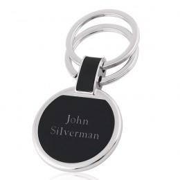 Personalized Key Tag- Round-Black