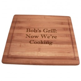 Personalized Message Bamboo Juice Trench Cutting Board