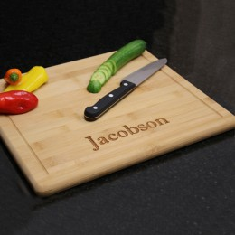 Personalized Bamboo Cutting Board with Dripwell