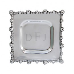 Decorative Engraved Beaded Plate with Monogram