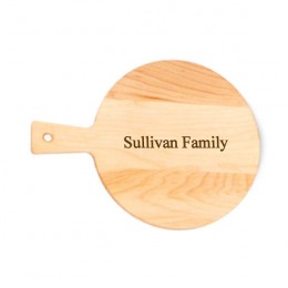 Round Maple Cutting Board with Engraved Name