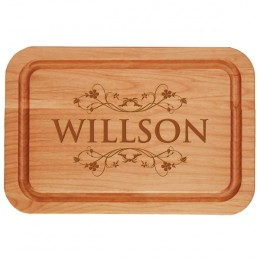 Personalized Vine Design Alder Wood Carving Board