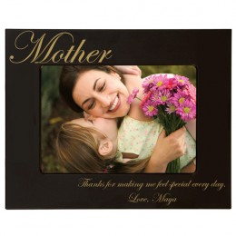 Mother's Gold Engraved Black 4 x 6 Frame