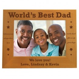 World's Best Dad Personalized Photo Frame - 5 x 7