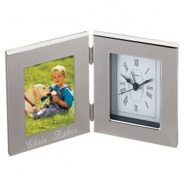 Personalized Alarm Clock with Photo Frame - 3 x 5