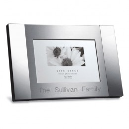 Brushed Tone Stainless Steel Engraved Photo Frame - 4 x 6