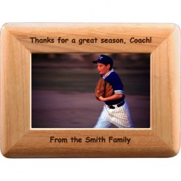 Any Personalized Message Alder Wood Frame - 4 x 6