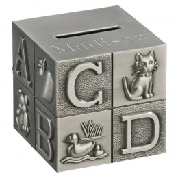 Personalized ABC Block Piggy Bank for Baby
