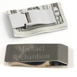 Personalized Hinged Money Clip