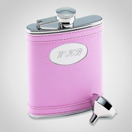 Personalized Pink Flask-Maiden of Honor Gift