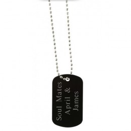Black Metal Dogtag with Name