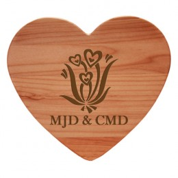 Heart Flowers Serving & Cutting Board with Monograms