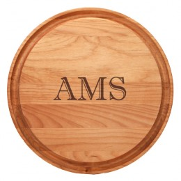 Monogrammed Round Dripwell Cutting Board
