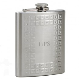 Designer Stainless Steel Flask with Monogram