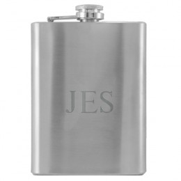Personalized Monogram Flask