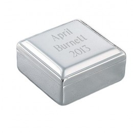 Classic Square Engraved Jewelry Box