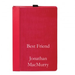 Red Brushed Metal Personalized Notebook Journal 6 x 9