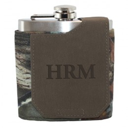 Hunt Valley Monogram Camouflage Flask