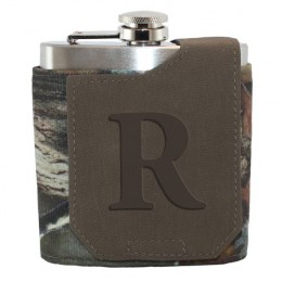 Personalized Single Initial Camouglage Flask
