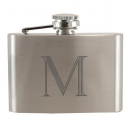 Pocket Flask with Single Letter