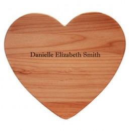Personalized Heart Shaped Cutting Board