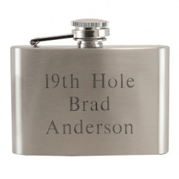 19th Hole Engraved Small Golf Flask