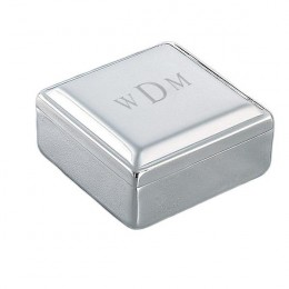 Monogrammed Square Jewelry Box