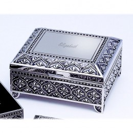 Vintage Style Personalized Jewelry Box with Name