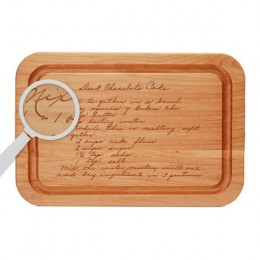 Handwritten Message Custom Cutting Board with Dripwell