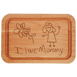 Your Own Artwork Personalized Cutting Board with Trench