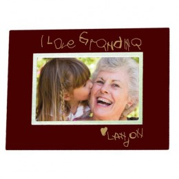 Personalized Handwritten Message Rosewood Picture Frame - 5 x 7
