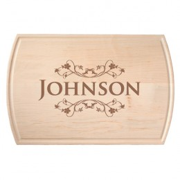Large Maple Personalized Dripwell Cutting Board