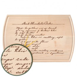Handwritten Message Vermont Maple Carving Board