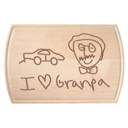 Child's Drawing Maple Dripwell Cutting Board