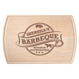 Maple Barbeque Cutting Board with Juice Groove