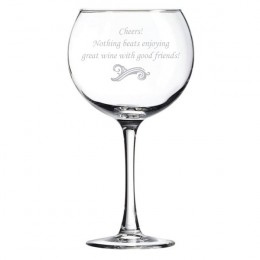 Create-A-Message Grande Wine Glass
