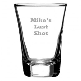 Engrave a Message Copa Shooter Glass