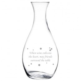 Elegance Glass 1 Liter Carafe with Special Message