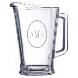Monogram Glass Serving Pitcher