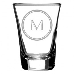 Shot Glass with Single Initial