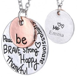 Personalized Be Happy Be Me Pendant