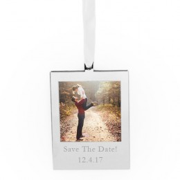 Engraved Hanging Picture Frame with Ribbon
